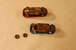 VINTAGE FALLER HO SCALE JAGUAR SLOT CAR RED + BLUE