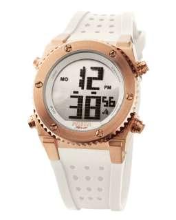 Brera Sport Digital Sport Watch, White Strap