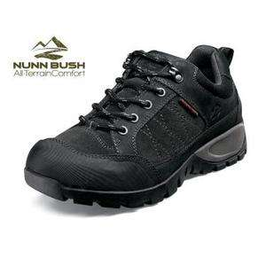 NUNN BUSH Mens Grapple All Terrain Hiking Shoes Black Suede & Leather