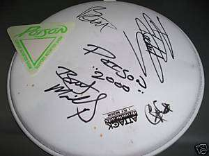 Poison Rare SIGNED Stage Used Drumhead Bret Michaels +