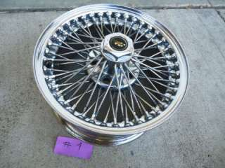 ONE DAYTON CHROME WIRE WHEEL 70 SPOKE SPOKES 15x7