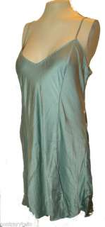 Chemise Slip Nightie, Victorias Secret, 100% SILK Aqua Green, L