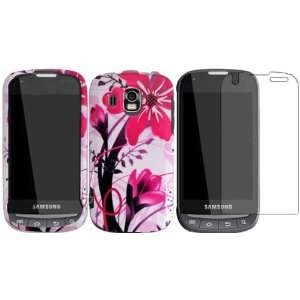Pink Splash Hard Case Cover+LCD Screen Protector for Samsung Transform