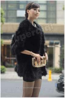Genuine Fox Fur Coat Outwear Wearcoat Clothing Jacket Vintage Winter