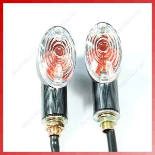Universal Oval Motorcycle Amber Turn Signal Lights