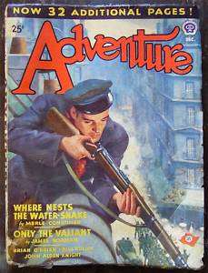 Adventure December 1943 Pulp Magazine WW2 Nazi cover