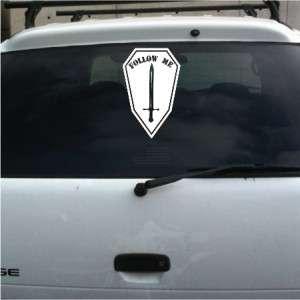 Follow Me Ft. Benning infantry unit vinyl decal sticker