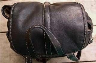 COACH Hamptons Black leather Backpack bucket bag sling Purse