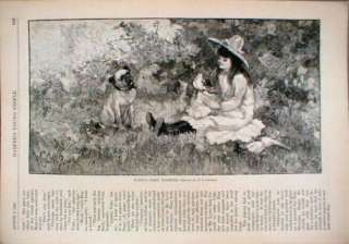 1883 Pug Dog Puppys First Toilet Baby Doll Outing Cute