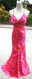 NWT BEATS STUDIO L.A.$150 Fuchsia / Orange Prom Gown 3