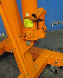CENTRAL HYDRAULICS 93840 1 TON FOLDABLE SHOP CRANE ENGINE HOIST