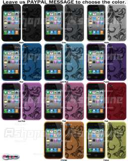 Clear Flower TPU Gel Case Cover for Apple iPhone 4G 4