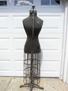 VINTAGE ADJUSTABLE DRESS FORM CO. ACME CAGE MANNEQUIN DRESS FORM