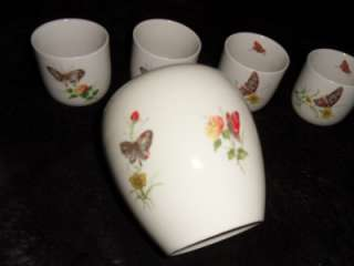 Vintage TAKAHASHI San Francisco D E W Set VASE and glasses