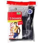 Hanes   Mens Knit Boxer Shorts, 3 Pack