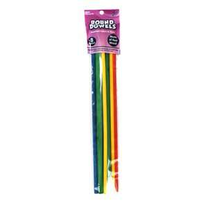 Craft Wood Dowel Rods, Assorted Colors Pretend Play, Arts & Crafts