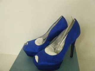 LAUREN JONES VICKI Beautiful Blue Satin Dress Shoes Size 6.5 M US New