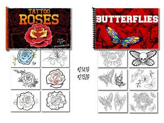 Tattoo Flash Art Books Butterflies and Roses