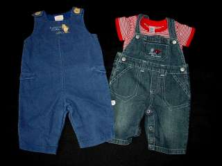 USED BABY BOY 0 3 MONTHS SPRING SUMMER OVERALL JUMPER DENIM OUTFIT