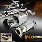 Polished Catback Exhaust+Cat Converter Test Pipe(Fits Honda Civic