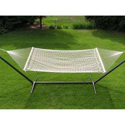 Extra large 2 person White Rope Cotton Hammock