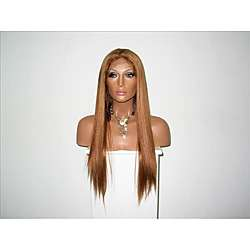 Light/ Golden Brown Full Lace 30 inch Human Hair Wig