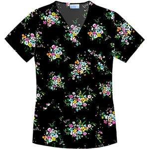 Lovely Bouquet Mock Wrap Top Home Medical