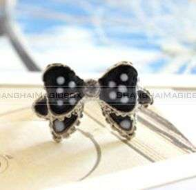 Fashion Sweet Cute Bowknot Bow Ring Black Blue Pink New FARING035