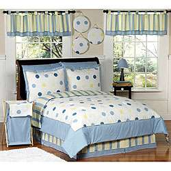 Blue and Yellow Modern Dots Full/ Queen Bedding Set