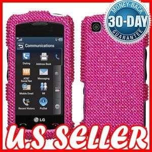 NEW PINK FULL BLING HARD CASE COVER FOR LG ENCORE GT550