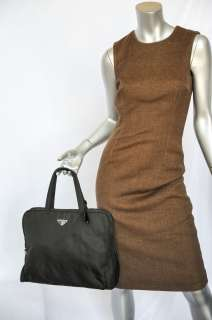 PRADA Black Nylon TESSUTO SPORT Square Handbag Shoulder Bag Purse+Lock