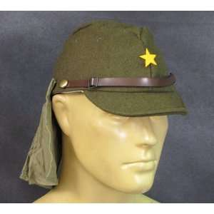 Japanese WWII Army EM/NCO Field Hat with Neck Flaps  Size