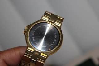 BULOVA Vtg Stainless Steel MEN GOLD Tone WATCH