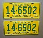 White Mountain License Plates Car Tags Stickered BULK LOT
