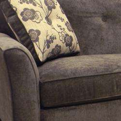 Brooke Charcoal Grey Fabric Sofa and Loveseat  Overstock