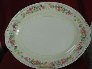 Homer Laughlin China Dinnerware Eggshell Georgian Rose lane, Large
