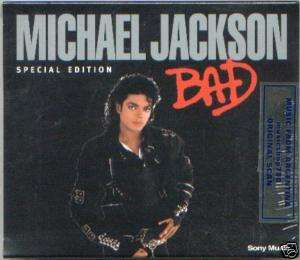 MICHAEL JACKSON BAD SPECIAL EDITION CD BLACK SLIPCASE