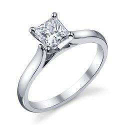 Platinum 1ct TDW Diamond Solitaire Engagement Ring (H I, SI1 SI2