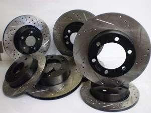 Toyota Tundra 07 10 Drill/ Slot Premium Brake Rotor F+R