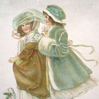 Pretty LADIES Art Nouveau CHRISTMAS Snow Gifts