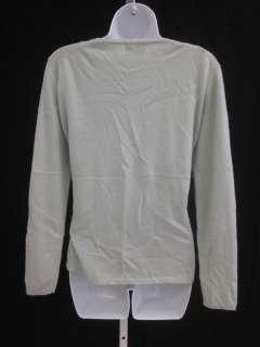 SUTTON STUDIO CASHMERE Green Cashmere Sweater Set Sz M