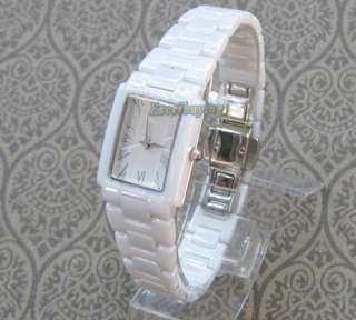 proof White Ceramic Sapphire Crystal Ladies Quartz Watch Fashion Gift