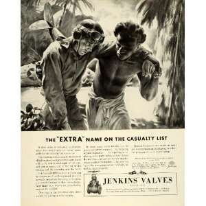 1943 Ad Jenkins Valves Indusrial Engineering WWII War
