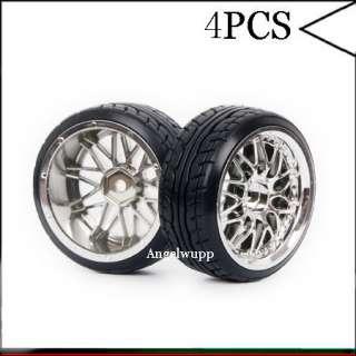 4pcs RC 110 Car On road 26MM 10Y Spoke Wheel Rim & Drift Tyre,Tires