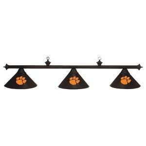 Clemson Tigers College Black 3 Shade Pool Table Light, 58