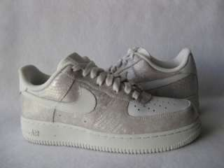 NEW NIKE AIR FORCE 1 PREMIUM 07 WOMENS GREY WHITE SHOE SNEAKER SIZE 9