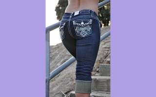 style capris from la idol jeans 888cp size 1 3 5 7 9 11 13 color dark