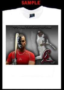 ALBERT PUJOLS CUSTOM PHOTO T SHIRT TEE cardinals 547