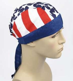 USA American America Flag BIKER head wrap Bandana