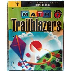 Grade 1 Unit 7 Patterns and Designs Resource Guide Third